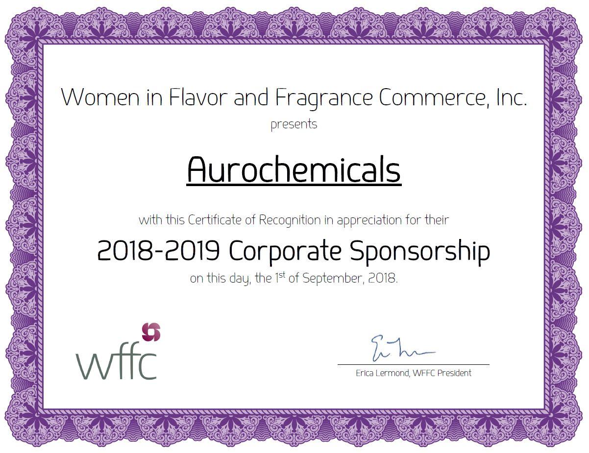 WFFC Certificate
